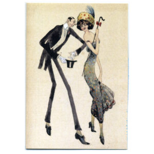 Edwardian Dancing Couple Greetings Card