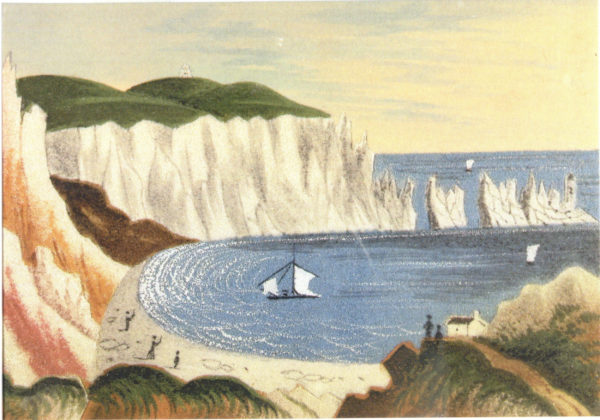 Isle of Wight Sand Picture Greeting Card