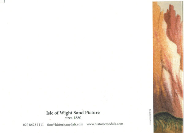 Isle of Wight Sand Picture Back of Greeting Card